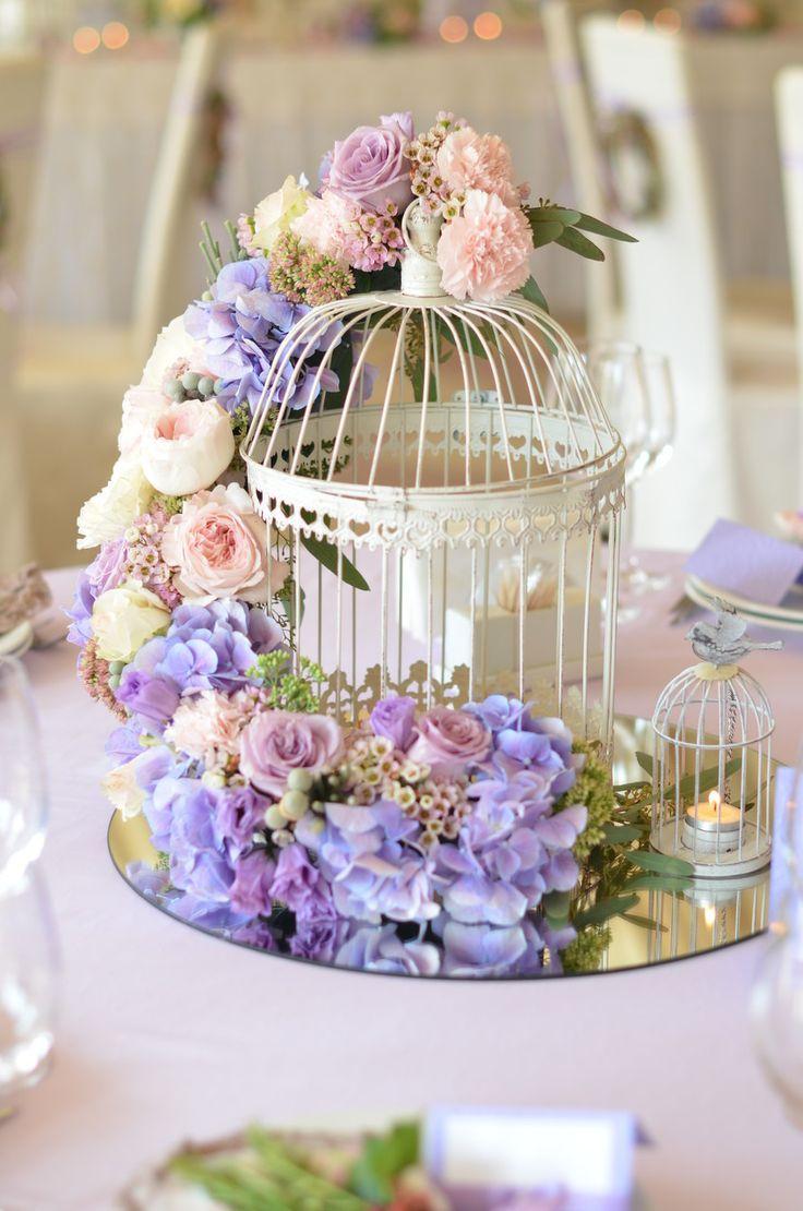 Нежно сиреневая свадьба во французском стиле.