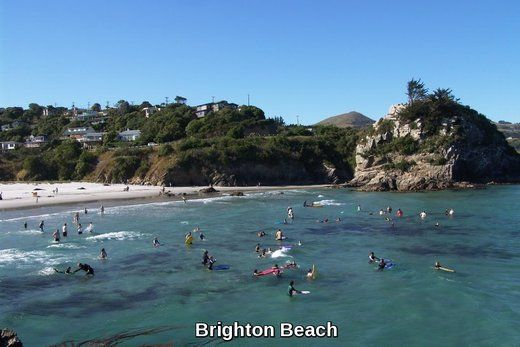 This beach is famous because of the local writer James K. Baxter who lived in Brighton.