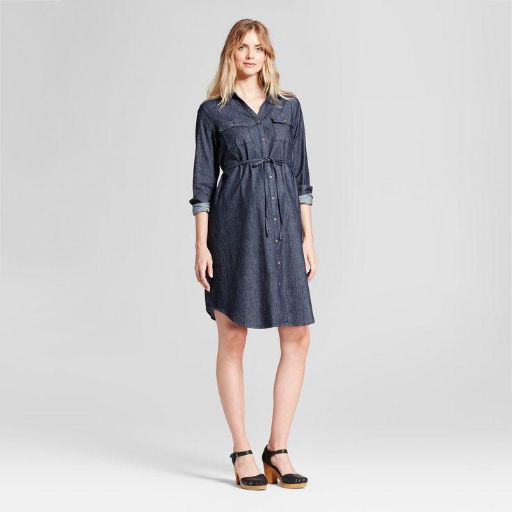 Maternity Denim Shirt Dress - Isabel Maternity by Ingrid & Isabel Indigo Xxl, Infant Girl's, Blue