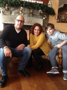 Owners Fabio and Milena with their son Claudio
