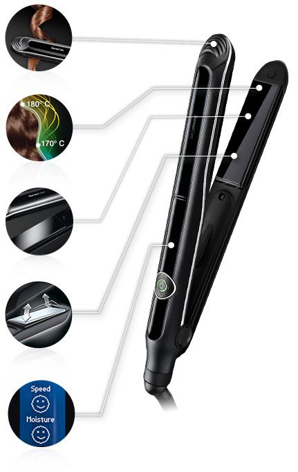 hair straightener with tech