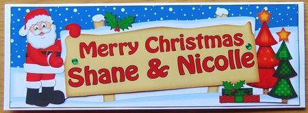 Large DL Merry Christmas SHANE & NICOLLE 3D decoupage - Photo by Joyce Watson