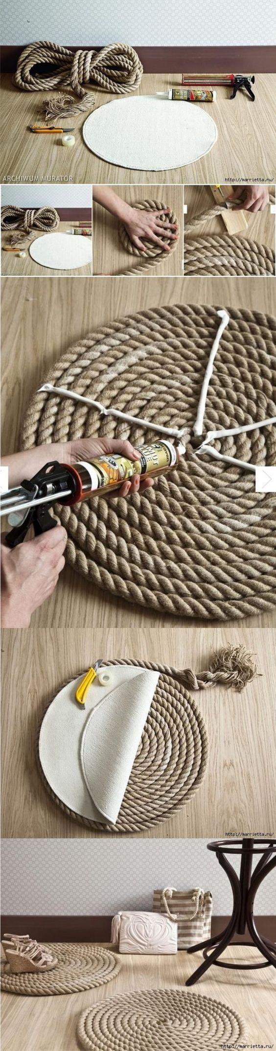 Alfombra DIY con cuerda / Via marrietta.ru: