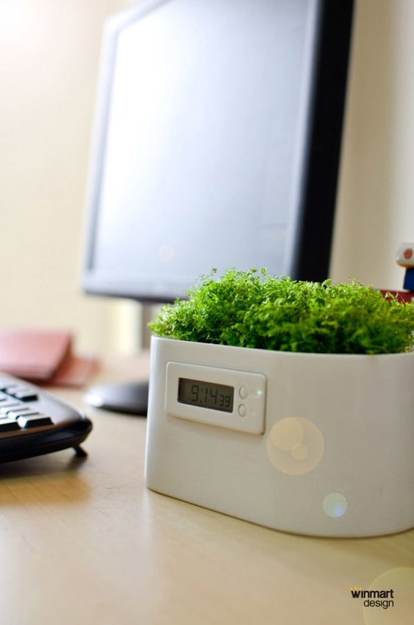 INFMETRY:: Mini Plant Power Station Clock - Home&Decor