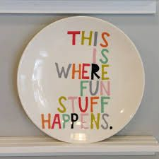 paint your own pottery platter - Google Search
