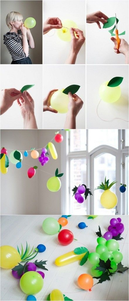 DIY Fruit Balloon - #art, #diy, craft