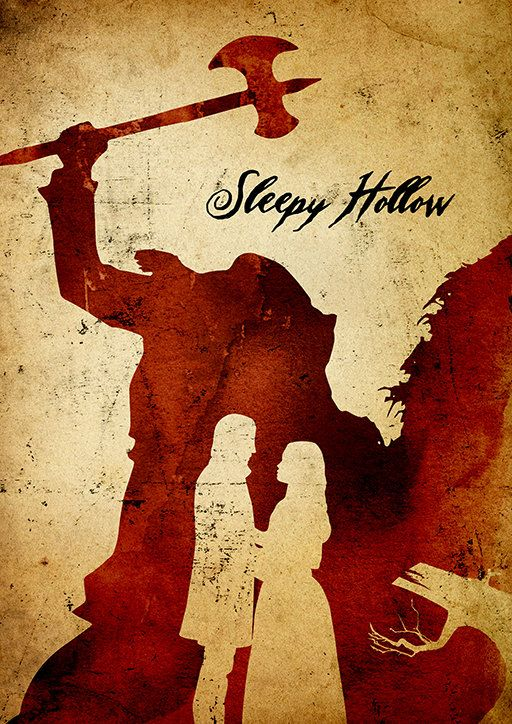 Tim Burton Sleepy Hollow Minimalist Poster by moonposter on Etsy