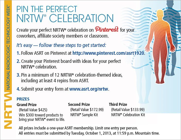 Plan your National Radiologic Technology Week® celebration and enter to win great prizes! www.asrt.org/nrtw