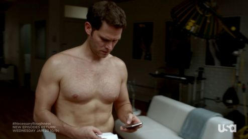 steven pasquale as paul keller shirtless in overunder 1
