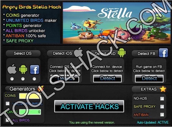 Angry Birds Stella  Hack - 27.09.2014 Updated http://tools4hack.com/angry-birds-stella-hack-cheats-september/