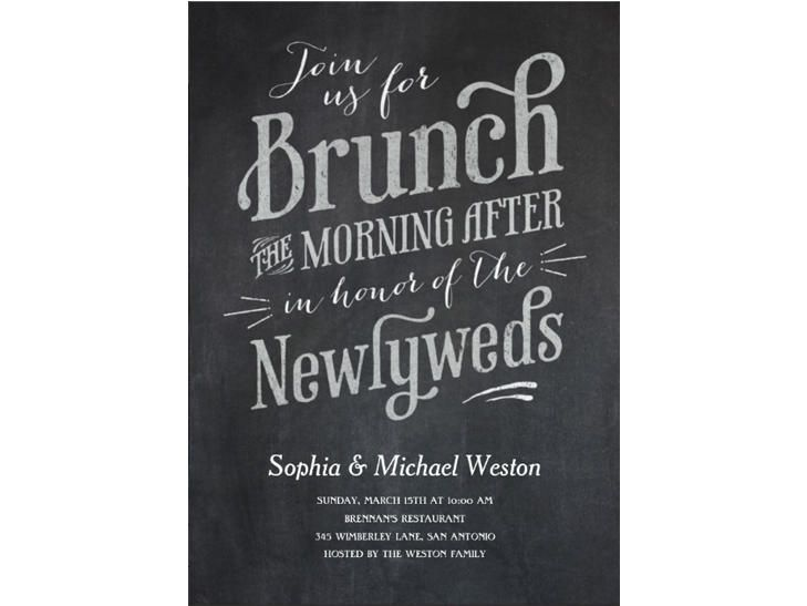 After Wedding Invitation Wording: Our Favorite Day-After Wedding Brunch Invitations