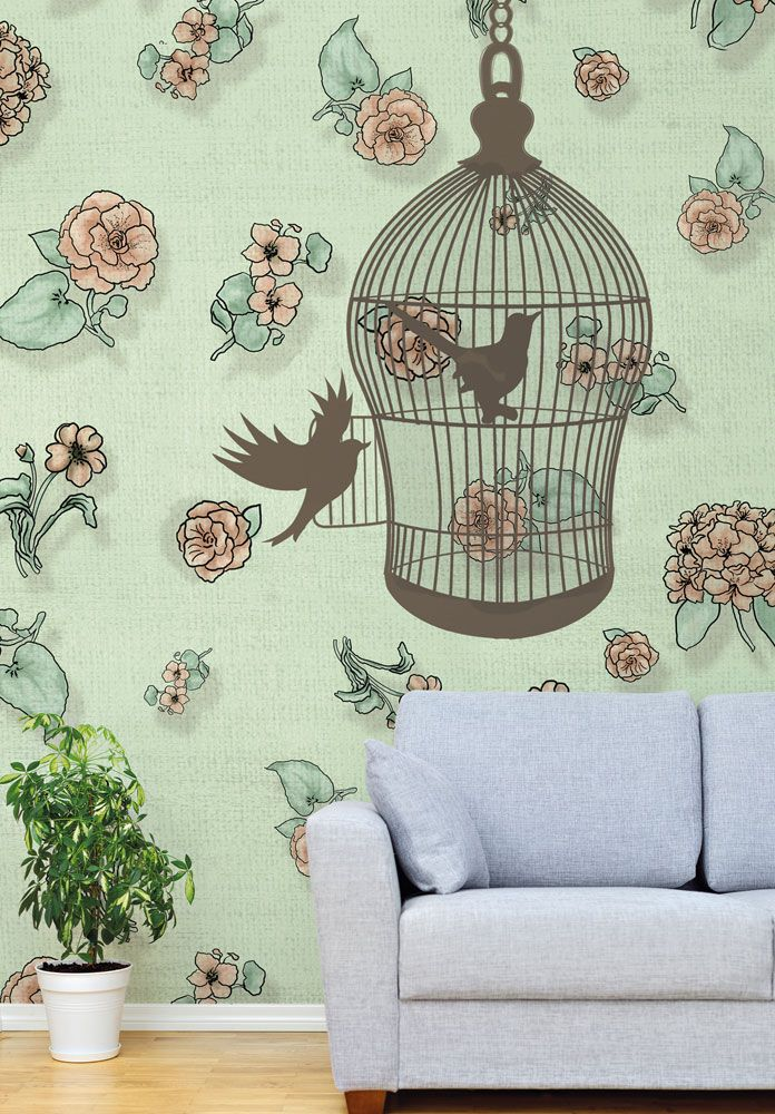 Easter gifts: 10 designer ideas, The Open Cage wallpaper, Wallpepper, 2016