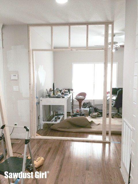 Framing a Pocket Door Wall - for my new office   Handyman Repairs ...
