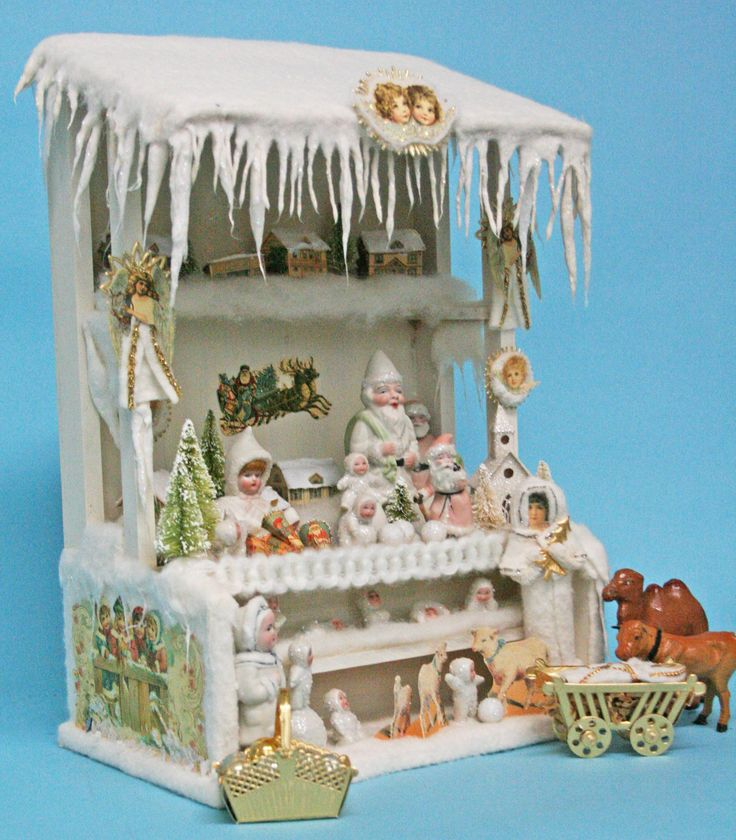 Newly completed Christmas Market Stall inspired by a German antique Christmas toy.