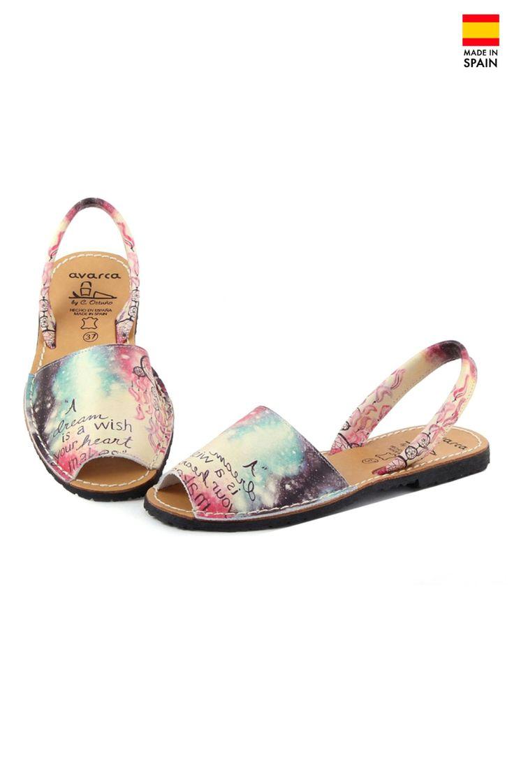 Sandale Avarca din piele naturala Wish, multicolor