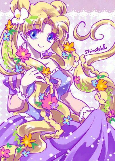 Usagi as Rapunzel
