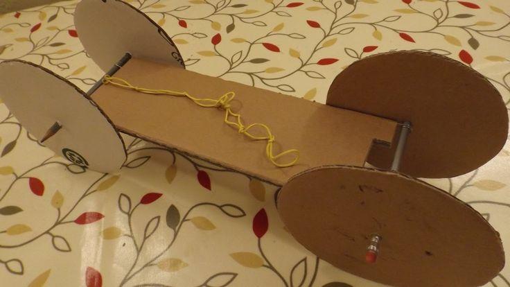how to build an elastic powered car