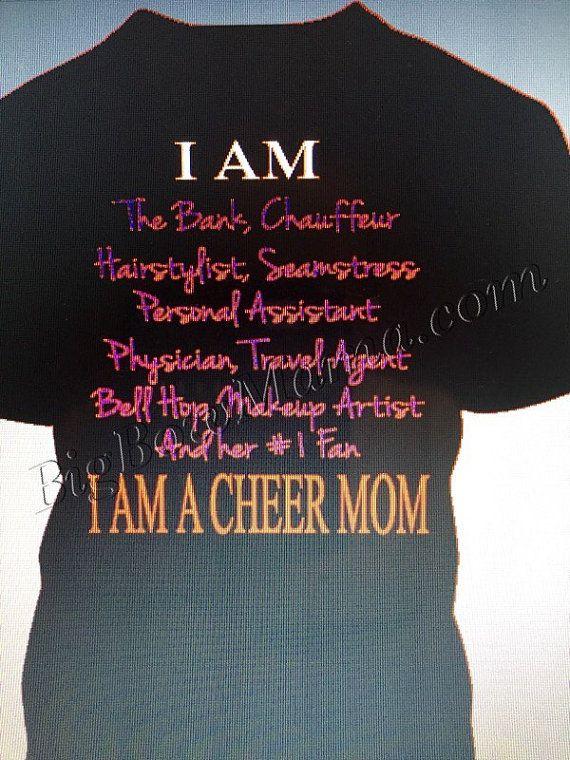 I AM A CHEER MOM t-shirt Glitter by BigBowMama on Etsy