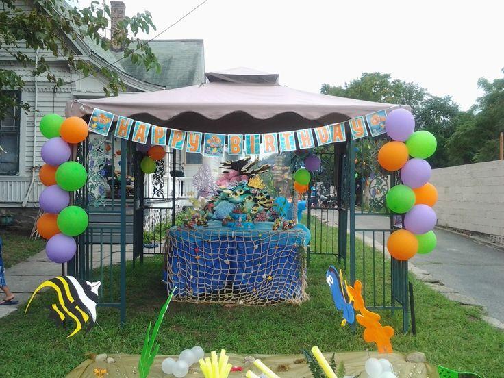 Gazebo Decoration Cake Table Boy Birthday Decorations