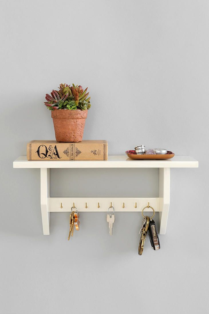 Plum & Bow Key Holder Shelf // for the entrance of the house to hang all the house/spare car keys to make it easier to move the cars if necessary