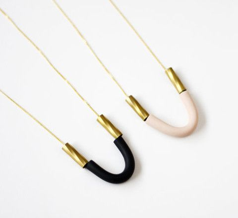 U shaped handmade necklace