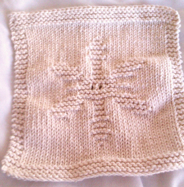 Knitting Pattern Snowflake Dishcloth : 246 best images about Knit dishcloths on Pinterest Free pattern, Knit patte...