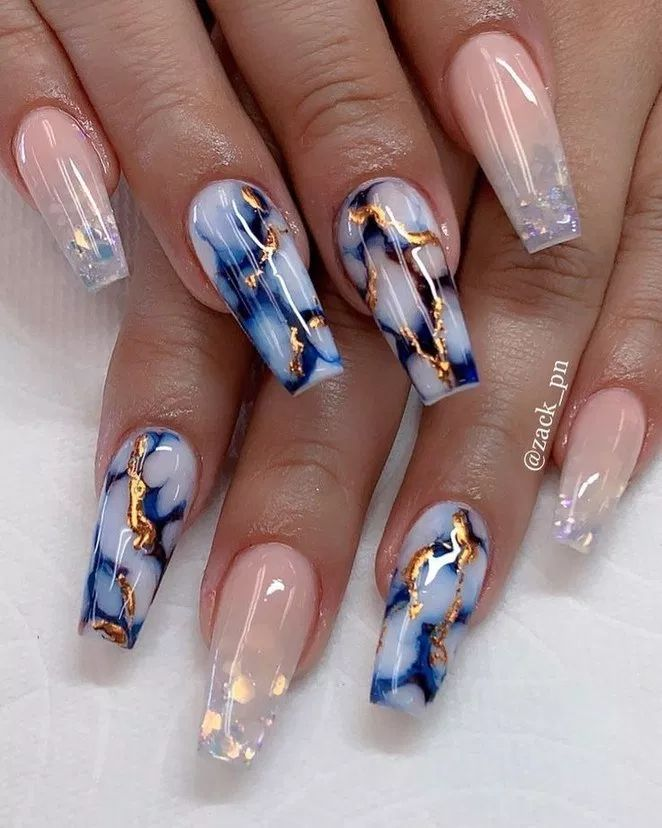 33+ nail designs and ideas for coffin acrylic nail…