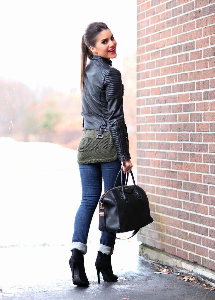 Calça: J Brand / Jaqueta: Zara / Tricot: Shoulder / Bootie: Bebe / Bolsa: Givenchy (Modelo: Antigona) / Batom: Ruby Woo da MAC