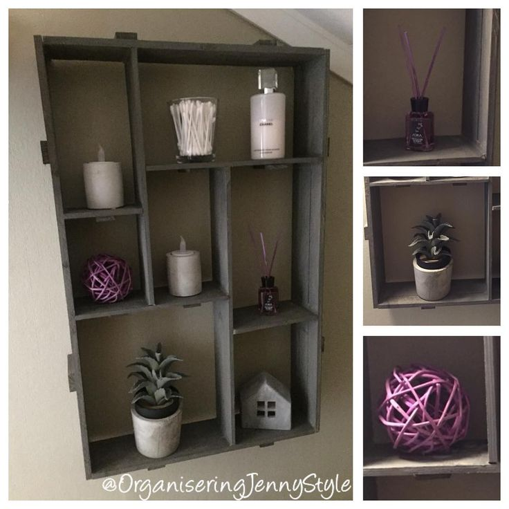 DIY shelf. This decoration decorates our guest toilet. Made by OrganseringJennyStyle, check out @OrganiseringJennyStyle at instagram