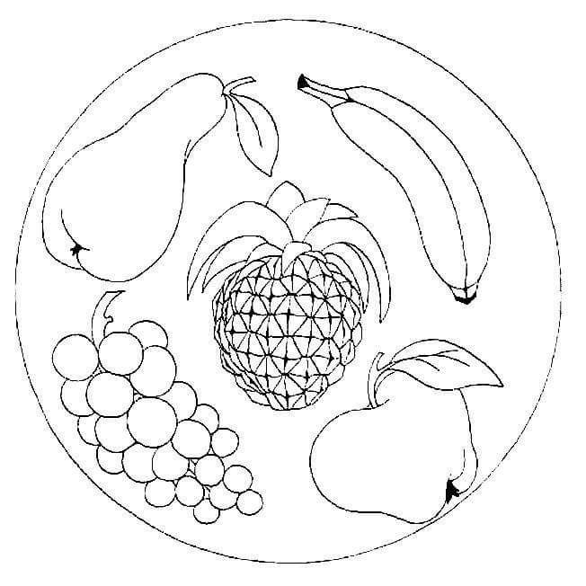 Yaz Mevsimi Meyveleri Boyama
