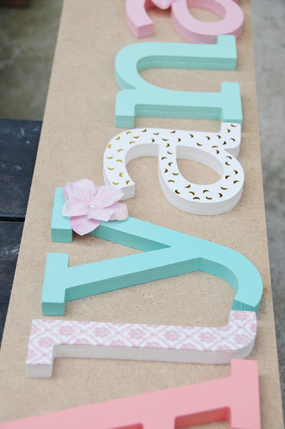 Wooden Letter Name Large Letters Custom