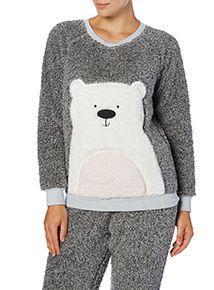 Grey Polar Bear Pyjama Top - Sport Underwear Women - amzn.to/2gXF74W Clothing, Shoes & Jewelry - Women - Clothing - sport underwear women - http://amzn.to/2jKBIJr