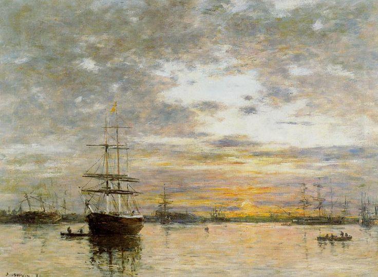 The Port of Le Havre at Sunset, 1882 Eugene Boudin