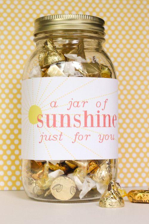 DIY gift: jar of sunshine | lovesome