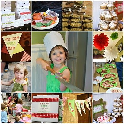 24 Kid Birthday Party Themes - cooking party, pizza party