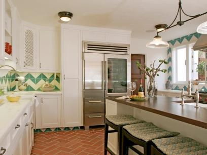 Love.Beverly Hills, Chevron Pattern, Chevron Tile, Kitchens Tile, Kitchens Ideas, Kelsey Grammer, Kitchens Backsplash, House, Tile Pattern