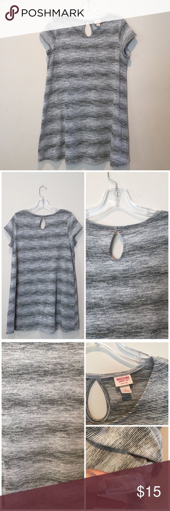 Black/gray marled dress Worn 1x. Cute transitional dress. Wear it in the Spring with flats, booties & in the Fall/Winter with leggings/tights & boots. Flowy fit. Fits a size 12 properly.   B= 22 inches pit to pit | L= 33 inches    ❌No trades/swaps ❌No PayPal 🐶Pet friendly home 📫I ship M, W, & F 🚭Smoke free home  ❗️24 hour reservations  🛍Bundle 2+ items for a discount Mossimo Supply Co. Dresses Mini