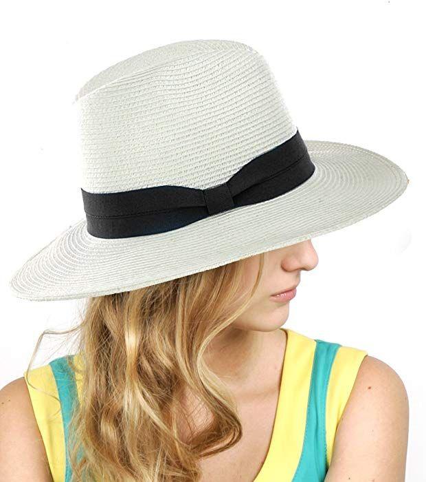 Nyfashion101 Lightweight Solid Color Panama Fedora Sun Hat White Black At Amazon Women S Clothing Store Hats For Women Fedora Hat Women Womens Fedora