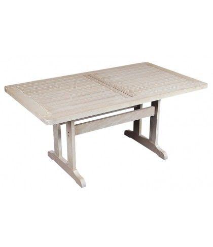 Σταθερό παραλληλόγραμμο τραπέζι Δίας σε λευκό χρώμα