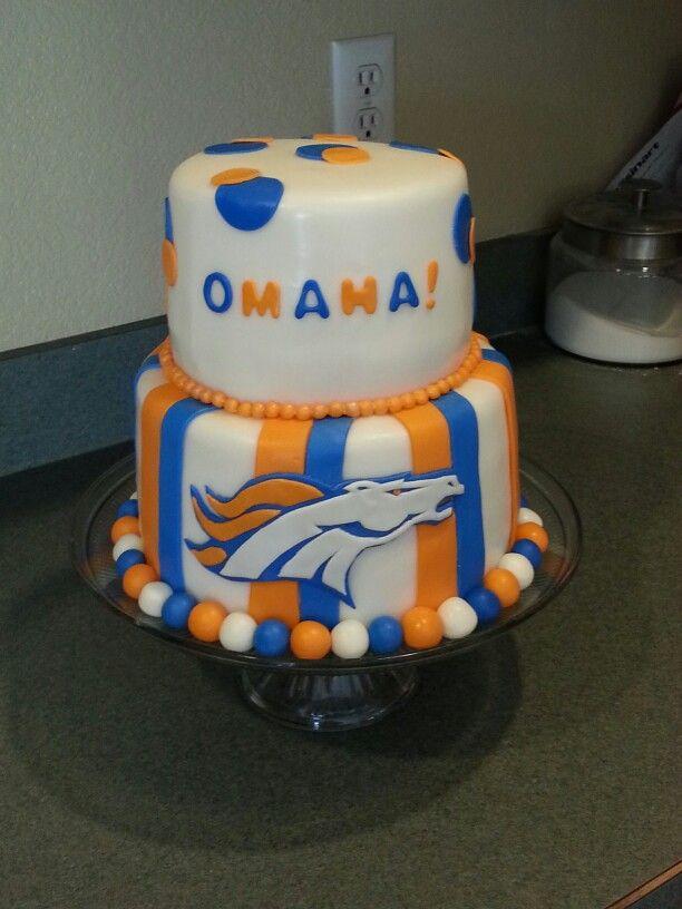 8 best denver broncos cakes images on Pinterest Denver broncos