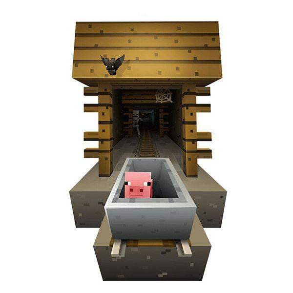 Minecraft gruva väggdekal/väggdekor
