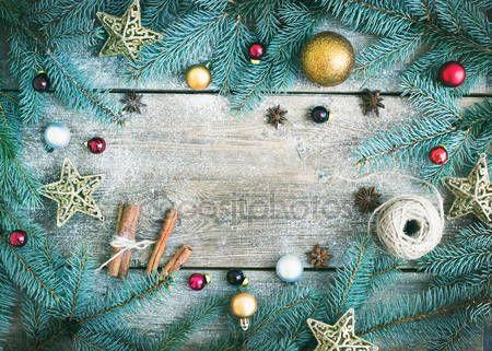 Letöltés - (Új év) karácsonyi dekoráció háttér: prémes-fa ágai, g — Stock Kép #60388737