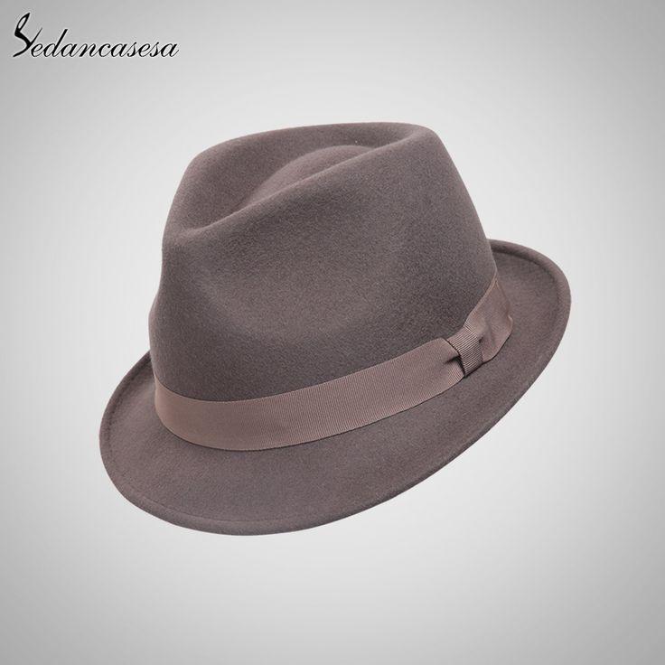 b61b9a253d6 Classic Trilby Hat Male Fedora Hat with 100% Australian Wool Men Hat for  Formal Church Hat FM033012B