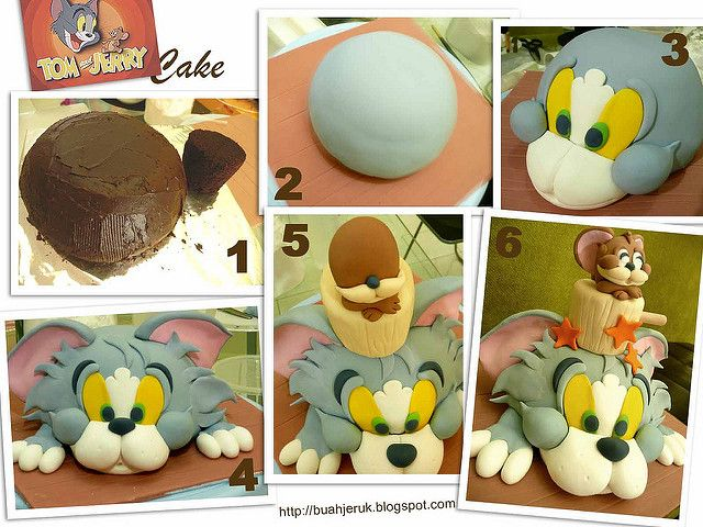 Tom and Jerry cake   nina suriatmojo   Flickr                                                                                                                                                                                 Más