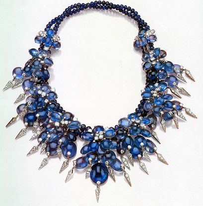 Cartier cabochon sapphire and diamond necklace, which belonged to the Duchess of Windsor - 1940