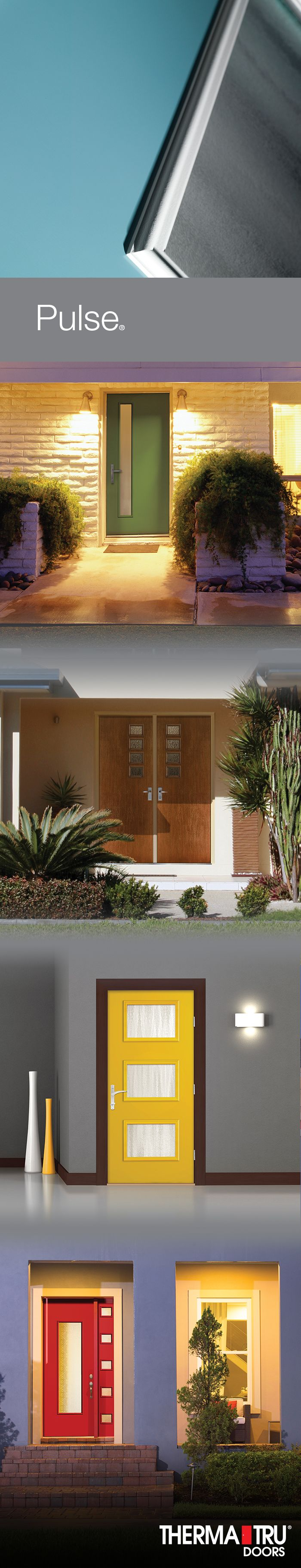 Pulse entry doors are designed to be fun and easy to mix and match with sleek, flush door and sidelite styles. With four distinct aesthetic approaches – Ari, Línea, Echo and Solei – the entrance becomes modern art.