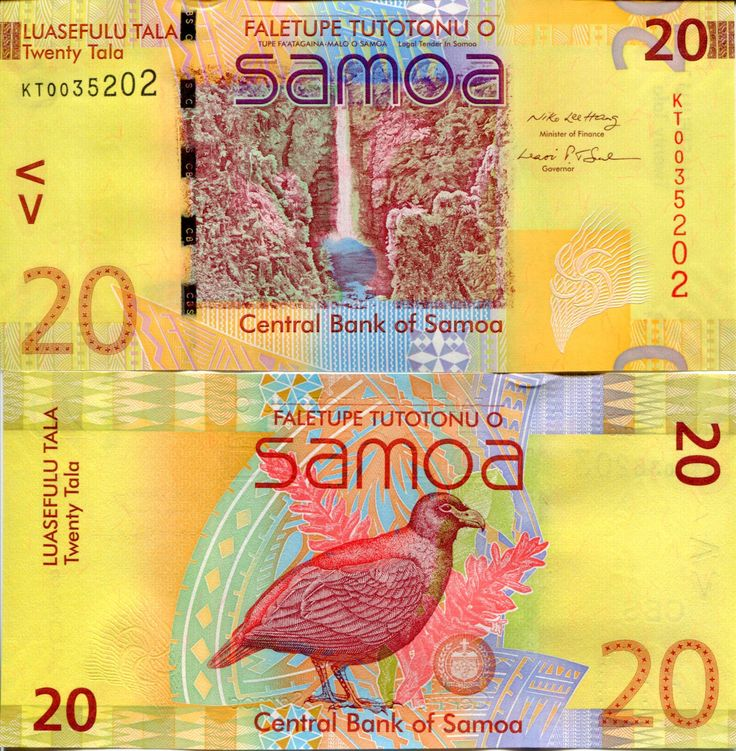 SAMOA 20 Tala Banknote World Money UNC Currency South Pacific BILL p40 Bird Note picclick.com