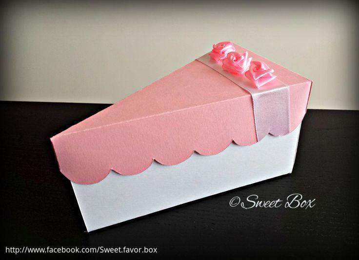 Cake Slice Party Favor Box