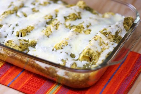 Roasted Enchiladas with Tomatillo Sauce | Savories | Pinterest