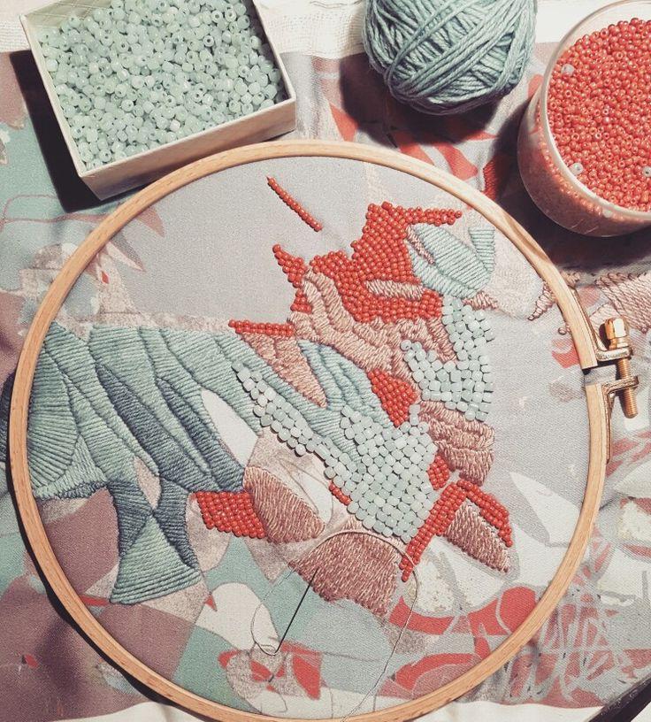 Embroidery #mskpu @mskpu
